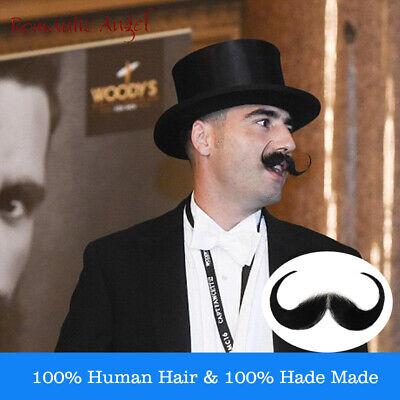 46bf5b63bc914 100% Human Hair Handmade Fake Mustache Beard for Entertainment/Drama/Life