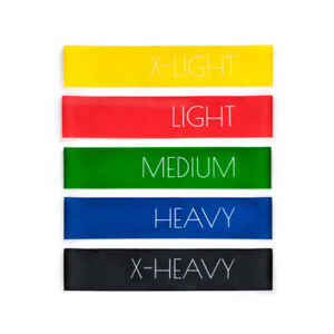 Resistance Loop Bands Set of 5 Levels for strength training