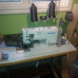 New Heavy Duty double needle Industrial Sewing Machine