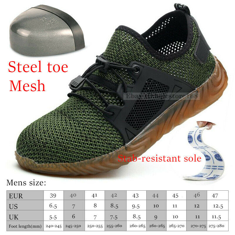 SUMMER MENS LIGHTWEIGHT STEEL TOE CAP WORK SAFETY SHOES TRAINERS BOOTS SPORTS