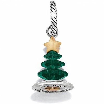 Christmas Tree Star Charm - New Brighton MERRY CHRISTMAS TREE Charm Bracelet or Necklace Green Gold Star