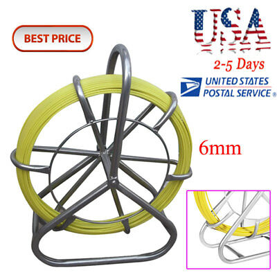 Usa-best Fish Tape Fiberglass Wire Cable Running Rod Duct Rodder Fishtape Puller