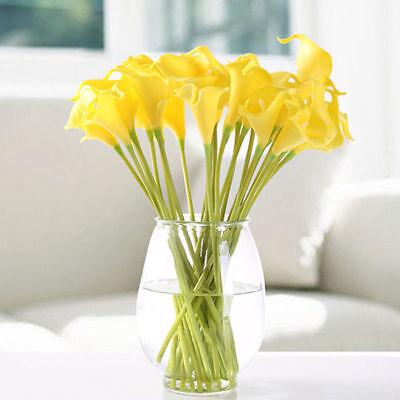 Mini Calla Lily Silk Flower Arrangement Home/Ofc Decor Best Looking Natural ()