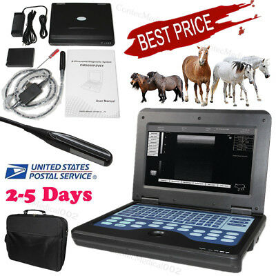 Usaportable Ultrasound Scanner Veterinary Pregnancy With 7.5 Mhz Rectal Linear