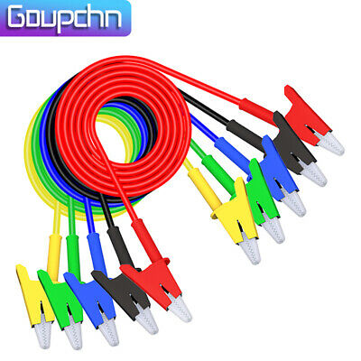 Goupchn 5pcs Alligator Clips Test Leads Dual Ended Crocodile Copper Wire Cable