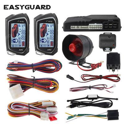 EASYGUARD 2 way car alarm system auto start vibration alarm turbo timer mode -