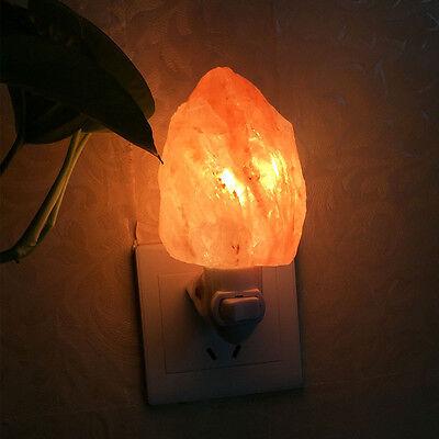New Natural Crystal Lamp Himalayan Salt Night Light Air Puri