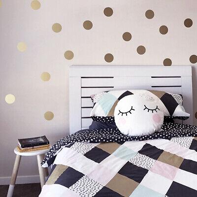 Gold Punkte Wandaufkleber Baby Schlafzimmer Aufkleber Kinderzimmer Dekor (Wand Schlafzimmer Dekor)