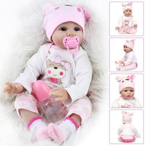 55cm Schöne Künstliche Reborn Babypuppen Lebensecht Spielzeug Baby Geschenk
