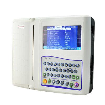 Mini Portable Digital 12-channel 12-lead Electrocardiograph Ecg Ekg Machine Fda