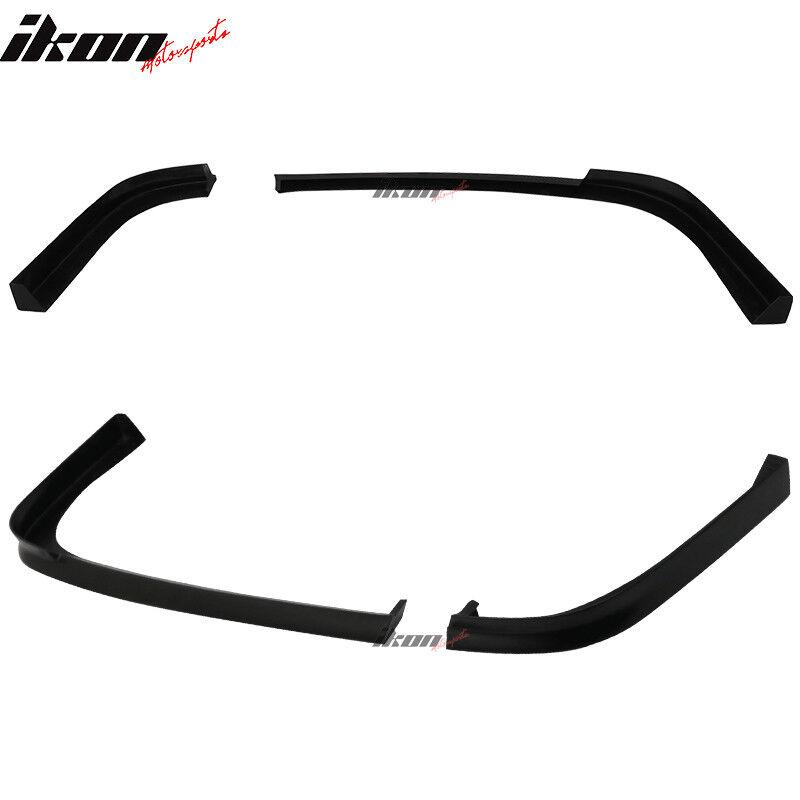 Fits 01-03 Honda Civic 2Dr Coupe TR Style Rear Bumper Lip PU Unpainted Black