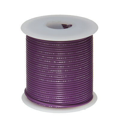 20 Awg Gauge Solid Hook Up Wire Violet 25 Ft 0.0320 Ul1007 300 Volts