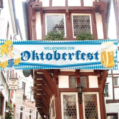 STRAßENBANNER Oktoberfest Bayrischer Abend Banner Flagge Fahne  Bavaria