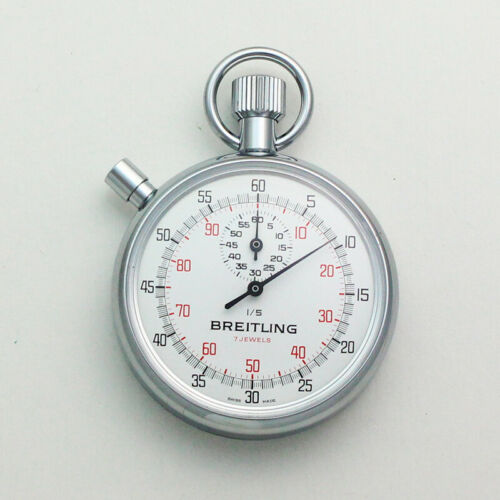 NOS Breitling Ref. 1522 Chronograph 7 Jewel Movement Pocket Timer