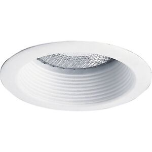 4 Inch Recessed Can Light Step Trim Baffle 120V White Replace Halo And
