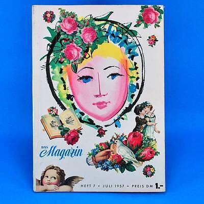 Das Magazin 7/1957 | Akt Erotik Werbung | DDR Geburtstag Zeitschrift Zeitung