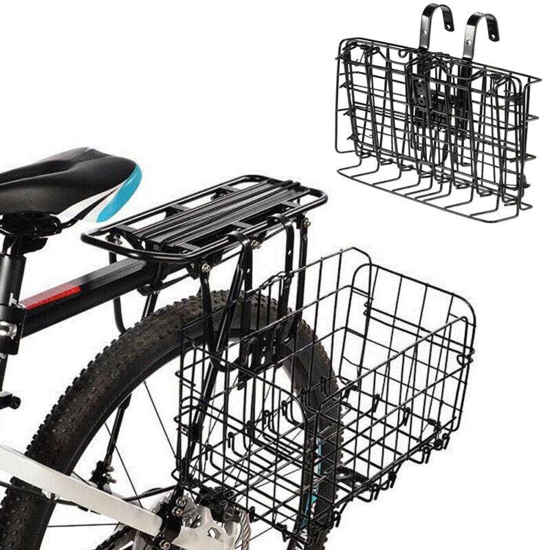 New Wire Detachable Bike Basket Front Bag Rear Hanging Baske