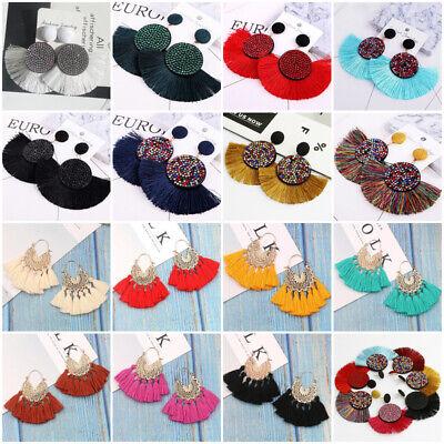 Fashion Women Bohemian Long Tassel Earrings Fringe Boho Dangle Earring Jewelry