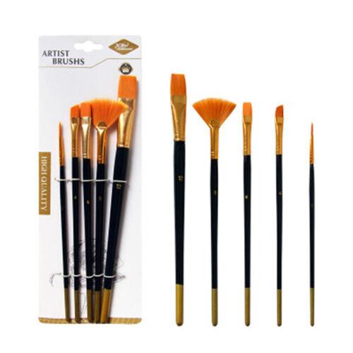 10X Artist Paint Brush Set Watercolor Acrylic Oil Painting Wooden Pen Supplies