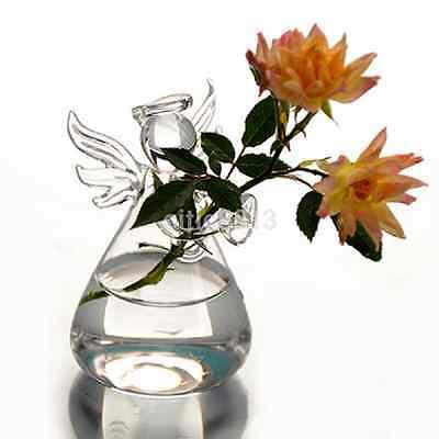 Angels Vases - Clear Angel Hanging Flower Vase Planter Vase Terrarium Container Glass Bottle US