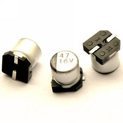 50pcs 47uf 16v 47mfd 16volt Smd Electrolytic Capacitor 5mm5.4mm