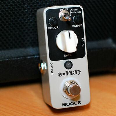 MOOER E-Lady Classic Analog Flanger Guitar Effect Pedal Filter Oscillator Effect