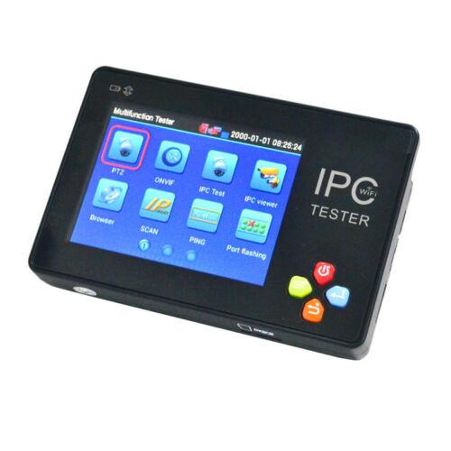 IP Digital & Analog CCTV Camera Tester Monitor Touchscreen WiFi PTZ 12V Output
