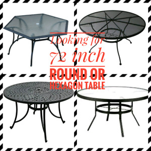 ROUND PATIO TABLE - 72 INCH