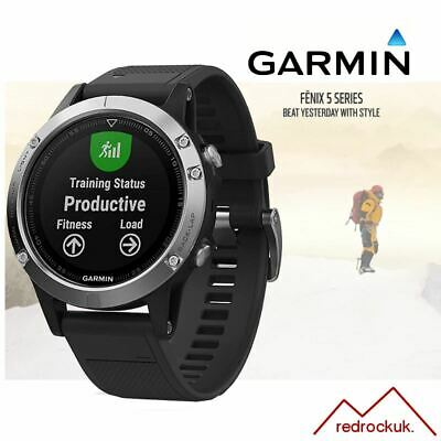 Garmin Fenix 5 Multideporte GPS SPORTS Reloj Integrado Hrm - Plata