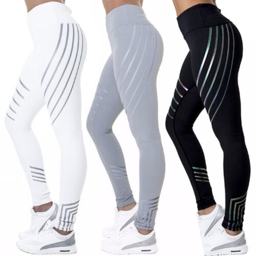 Damen Legging Stretch Sporthose Laufhose Fitness YOGA Gym Trainingshosen Leggins