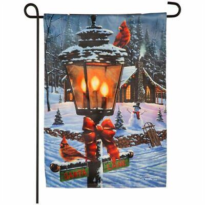 "Cardinal Lamp Post Solar LED FLICKER FLAME 14FL9277 Garden Flag 12.5"" x 18"""