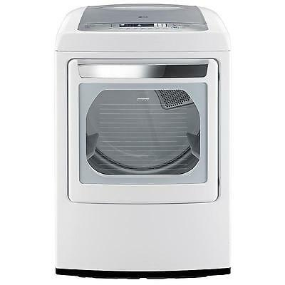 مجفف الغسيل جديد New LG DLGY1202W Gas Steam Dryer White Ultralarge