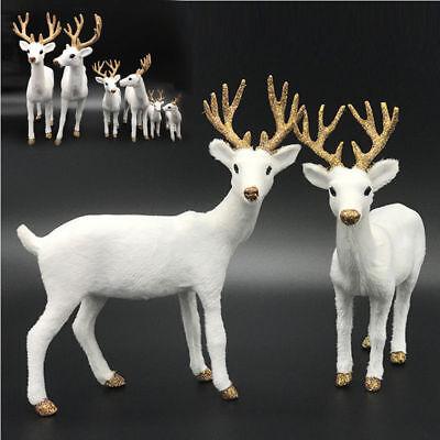 Christmas Plush Toy White Deer Reindeer Elk Xmas Home Tree Decor Ornament 2018