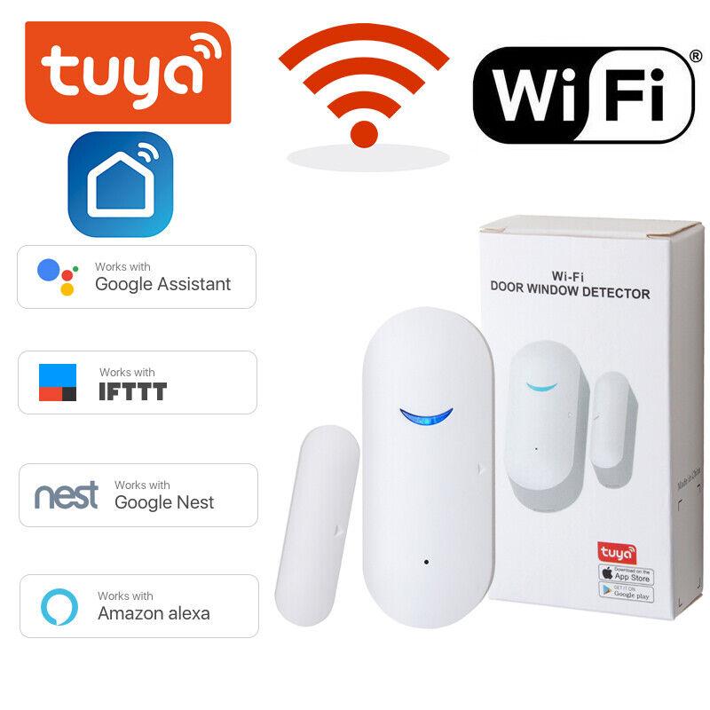 WiFi Wireless Smart Door Window Sensor Detector Safe Alarm for Alexa Google Home