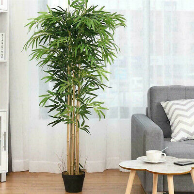 Outdoor Home Decor lastic Artificial Bamboo Leaf Tree Plants Green Indoor