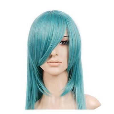 Teal Blue Green Medium Length Straight Anime Cosplay Wig Costume Wig - Teal Wig