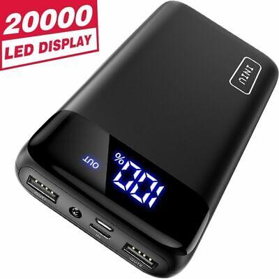 Portable Power Bank 20000mAh LED Display External Battery Pack Phone, Iniu-Black
