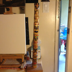 """CANADIAN YUKON FIRST NATIONS TOTEM POLE 25"""""""