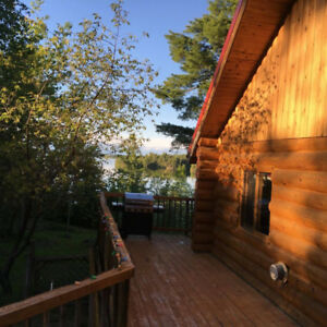Private Log House Rental, Crow Lake south of Kenora