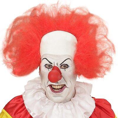 CLOWN GLATZE mit rotem Haarkranz für Erwachsene Perücke Haare Karneval Fasching ()
