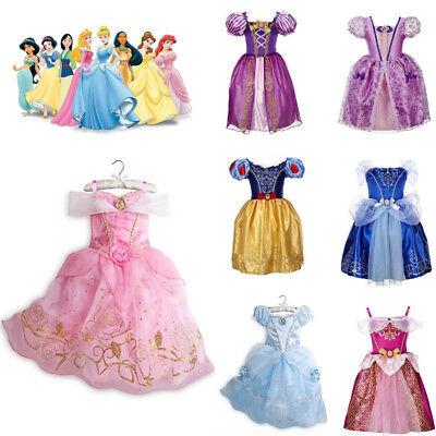 Prinzessin Kostüm Belle Cinderella Kinder Mädchen Märchen Kleid Aurora Rapunzel