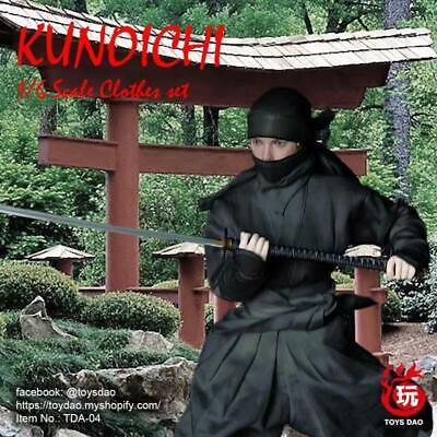 Female Ninja Suit (TOYSDAO 1/6 Girl Kunoichi Ninja Suit Set Black Female Outfit Clothes No)