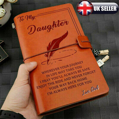 To My Child Love Dad Vintage photograph Leather Journal notepad Father Day Gift