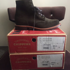 Chocolate moss Chippewa Size 10D and size 12D brand new!