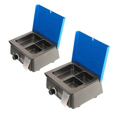2pcs Digital Dental 3well Analog Wax Melting Dipping Pot Heater Melter New Sale