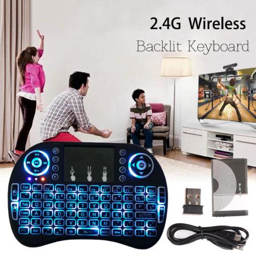 UTILE Mini Wireless 2.4GHz Tastiera retroilluminata per il LAMPONE PI PC /