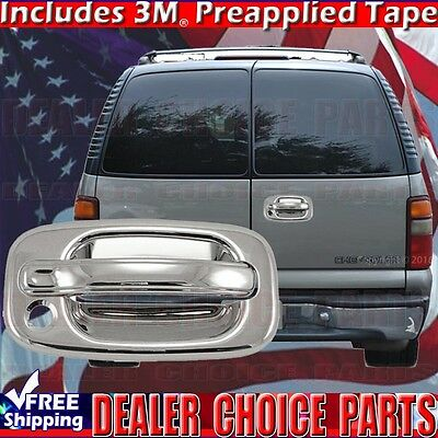 - 2000-2006 CHEVY SUBURBAN Barn Door Triple Chrome Tailgate Handle COVER W/KH