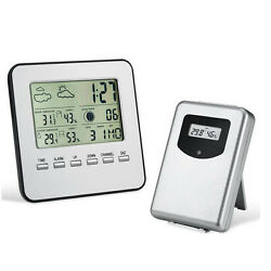 LCD Digital Indoor/Outdoor Wireless Weather Station Clock Calendar Thermometer -