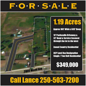 1.2 Acres in Armstrong, B.C. - 2900 Wood Ave