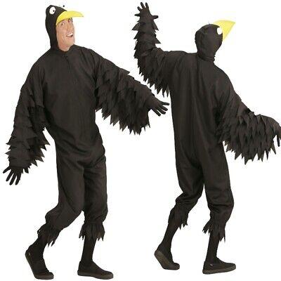 RABE Vogel Herren Kostüm M (50) Erwachsene Raben Tierkostüm Karneval Fasching